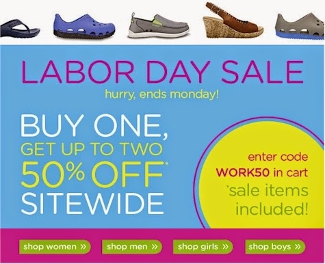 6bf866c25 Crocs is starting their Labor Day Sale today  Buy One Get Up to Two for 50%  off