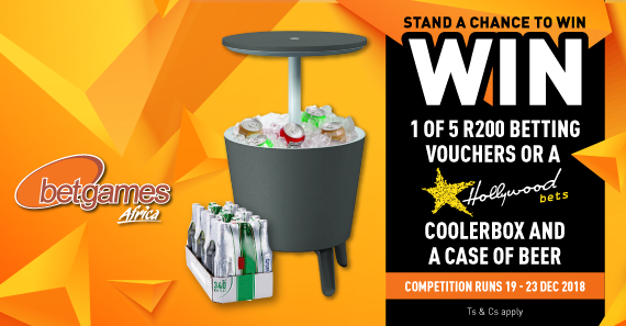 Stand a chance to win 1 of 5 betting vouchers or cooler box and beer