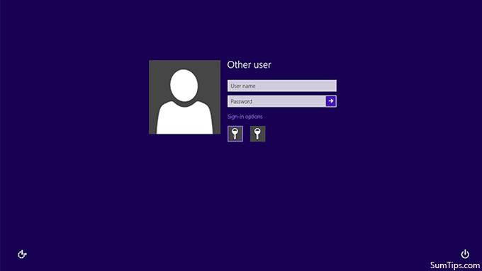Windows 8 Classic Logon Screen