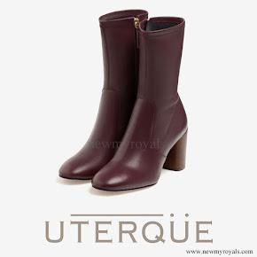 Queen Letizia wore Uterque nappa ankle boots