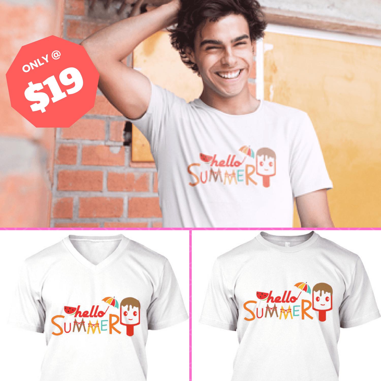 Great Summer Outing T Shirt Designs   Hello Summer T Shirt