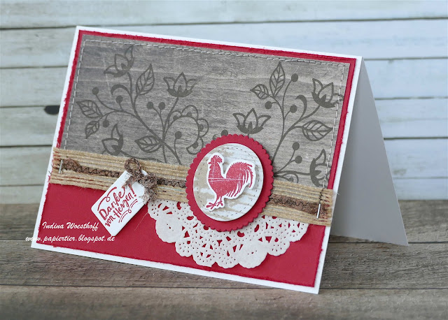 Kreativkiste | Holzdekor | papiertier Indina | Stampin' Up! | Wood Words | DIY