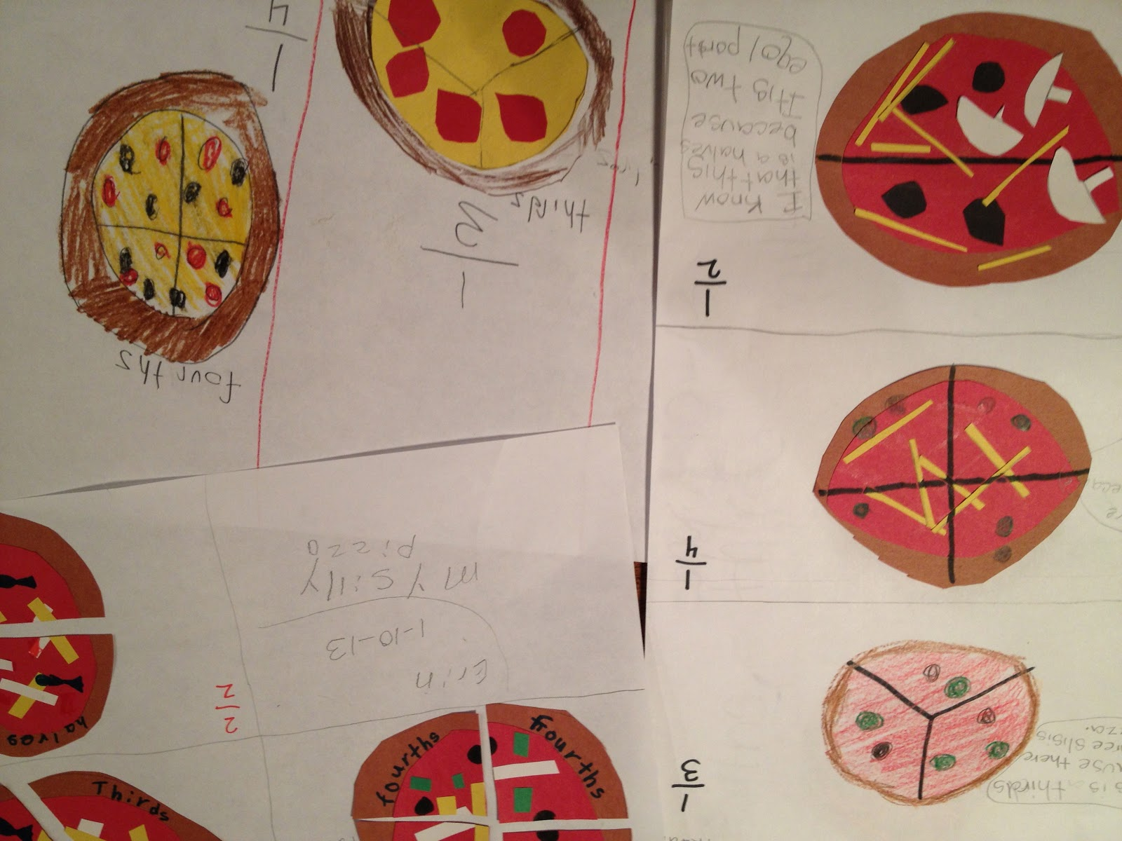 Mrs Gillenwater S First Grade Pizza Fractions
