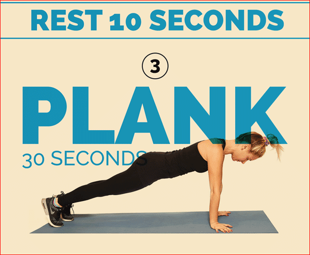 Plank 30 seconds