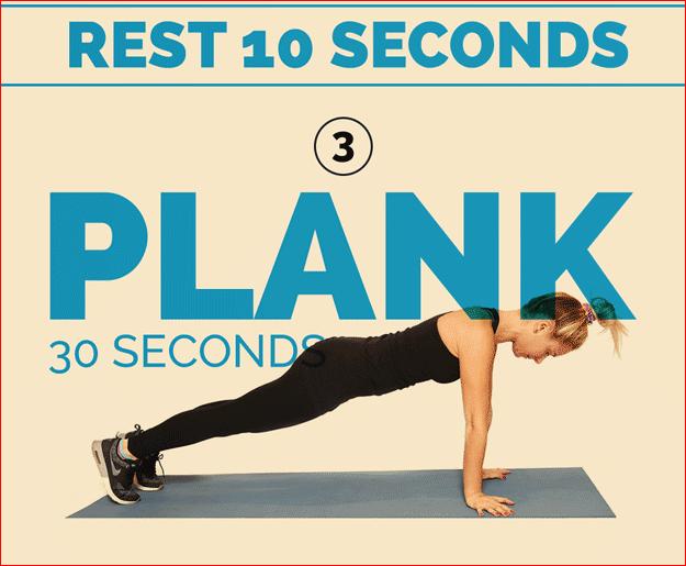 Plank 30 seconds