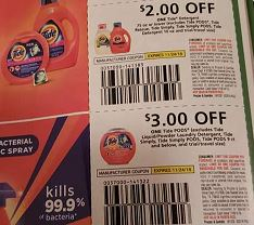P&G insert tide coupons