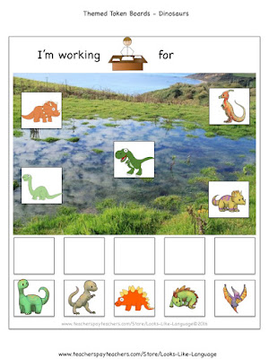 Freebies for Autism- Themed Token Boards from Looks-Like-Language