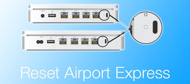Factory Reset Airport Express