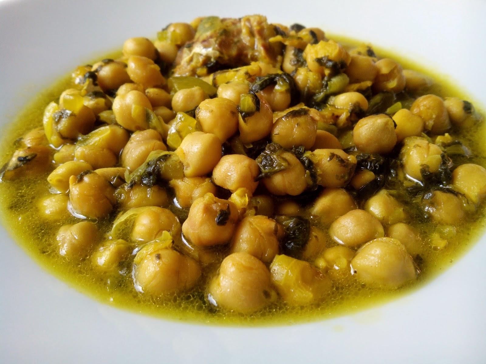 Garbanzos con bacalao y espinacas cocina a buenas horas - Bacalao con garbanzos y patatas ...