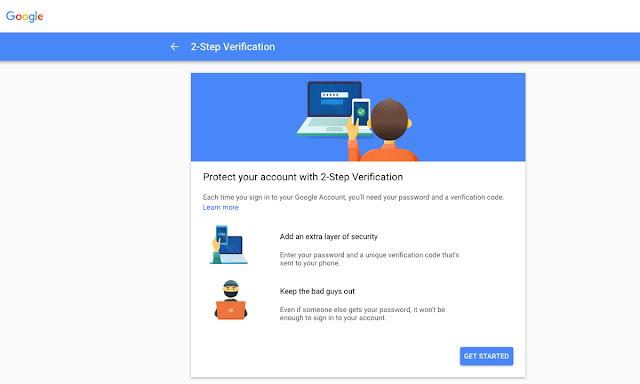 Verifikasi 2 Langkah Google