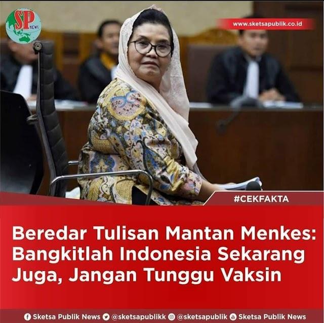 Bangkitlah Indonesia Sekarang Juga, Jangan Tunggu Vaksin..!