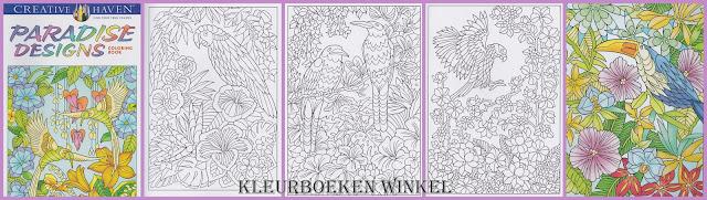 kleurboek bloemen, paradise designs