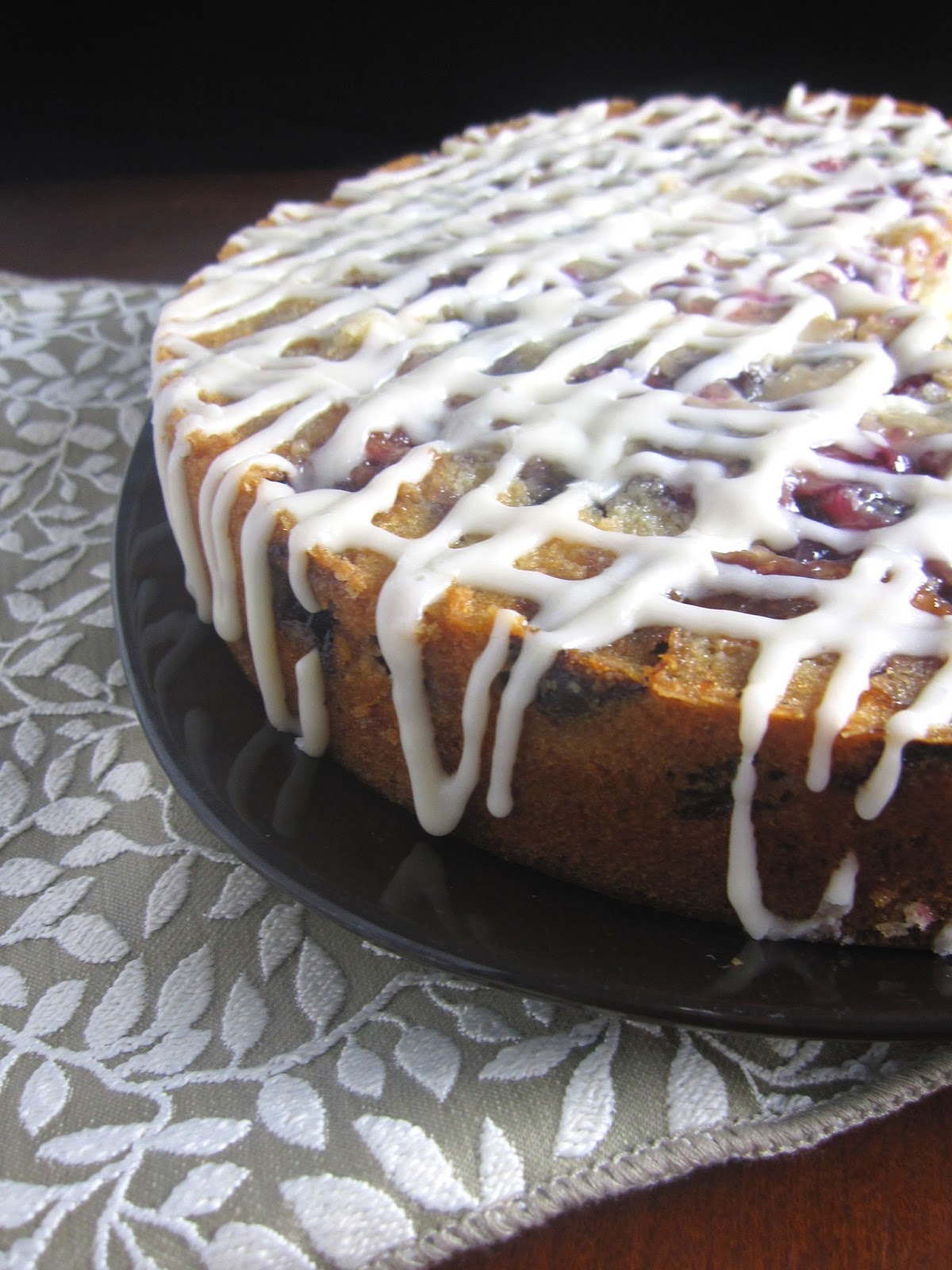 Fresh Cherry Coffee Cake With Cream Cheese Frosting A Taste Of Madness