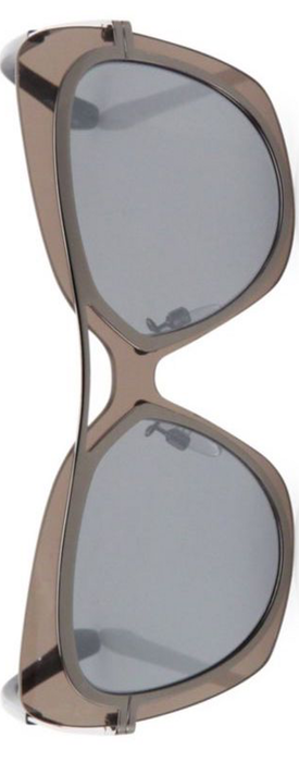 Balenciaga 57MM Mirrored Oversized Butterfly Sunglasses
