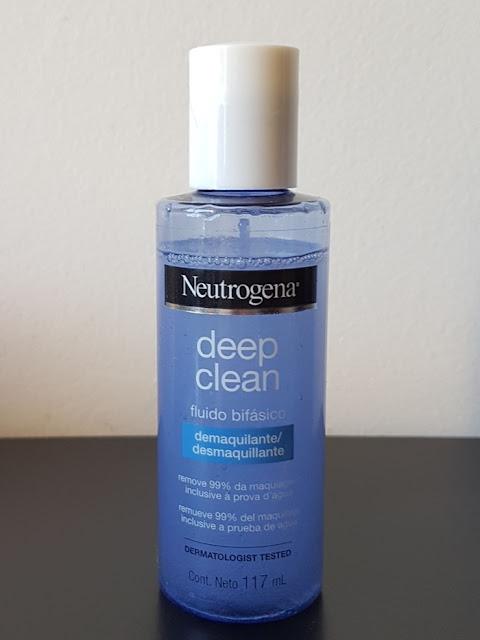 Resenha: Fluido Bifásico Demaquilante Deep Clean Neutrogena