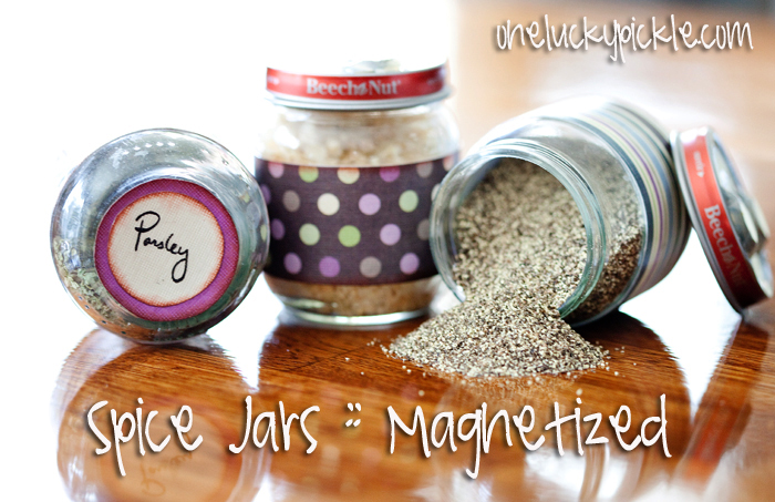 One Lucky Pickle: Magnetic Spice Jars