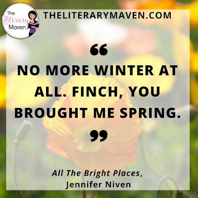 In All The Bright Places by Jennifer Niven, Finch and Violet's paths intersect in a most unusual way: on the ledge of the school's bell tower as each contemplates jumping. Neither does and their ensuing relationship brings the light back into Violet's life, but will it be enough to save Finch from his own darkness? Read on for more of my review and ideas for classroom application.