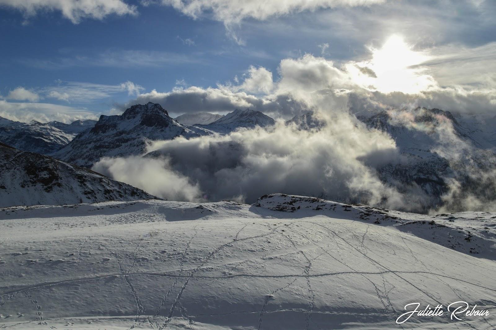 Réserve de la Sassière en hiver, randonnée en raquette