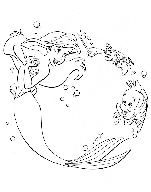 Walt Disney Coloring Page Of Princess Ariel Sebastian And Flounder From  The Little Mermaid Hd Wallpaper And Background Photos Of Walt Disney  Coloring