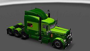Green Lines skin for Peterbilt 389