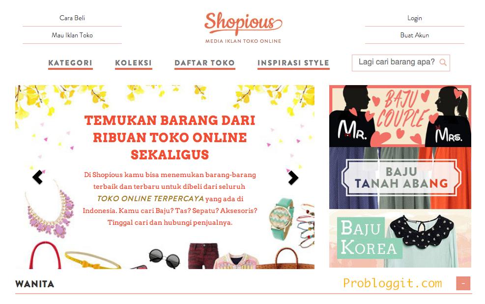 Shopious - Media Iklan dan Toko Online Terpercaya di Indonesia