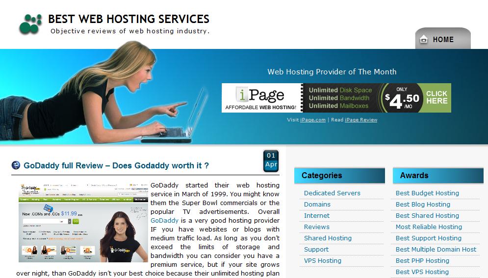 Web hosting rating