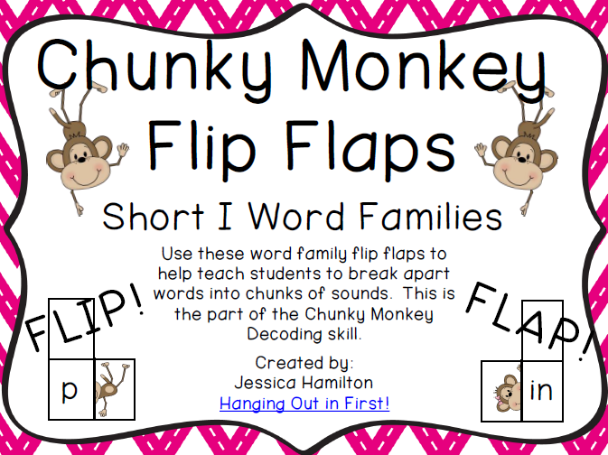 http://www.teacherspayteachers.com/Product/Chunky-Monkey-Flip-Flaps-Short-I-Word-Families-1113280