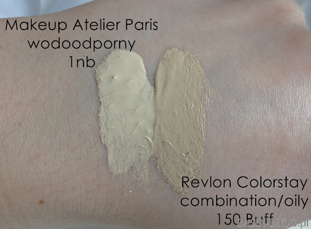 Make-up Atelier Paris, Waterproof Liquid Foundation, podkład wodoodporny FLW1NB, Revlon Colorstay Combination/Oily 150 Buff