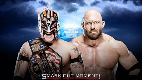 WWE WrestleMania 2016 US Title Match Ryback vs Kalisto