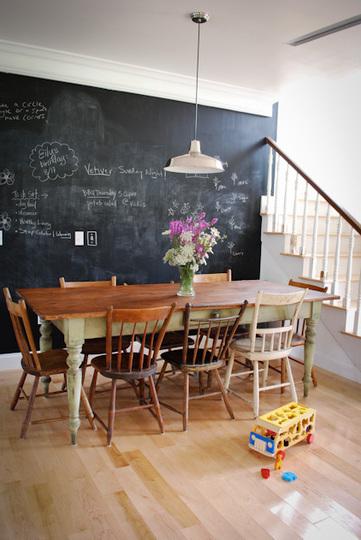 parede lousa sala jantar