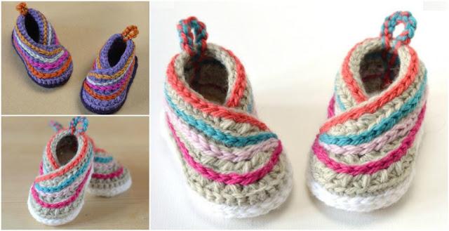 buciki dla dziecka szydelkiem