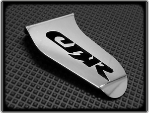 Honda CBR125 polished chrome stainless steel Exhaust guard / top protectors