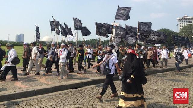 Katanya Demonstran 287 Akan Bawa 1000 Bendera Merah Putih Karena Cinta Indonesia, Ternyata Bohong