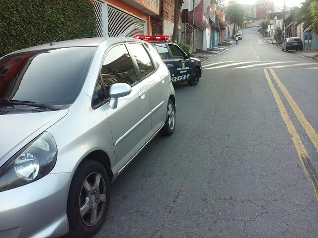 Ronda Setorial da 3º Inspetoria após denúncia localiza veículo que havia sido roubado pela Vila Vitória em Santo André