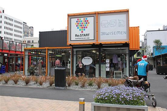 desain toko minimalis menggunakan kontainer bekas