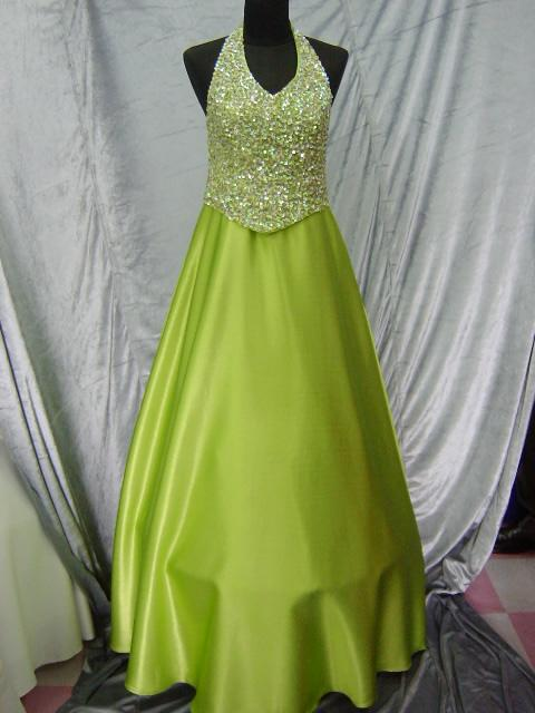Bright Green And Dark Green Wedding Dress Designs