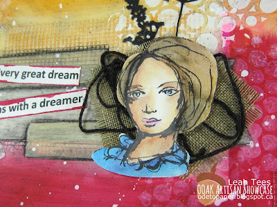 Mixed Media Art Journal Page Leah Tees OOAK Artisans