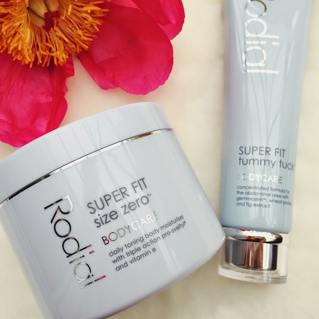 Rodial Super Fit Tummy Tuck and Size Zero Bodycare review, beauty bloggers, FashionFake