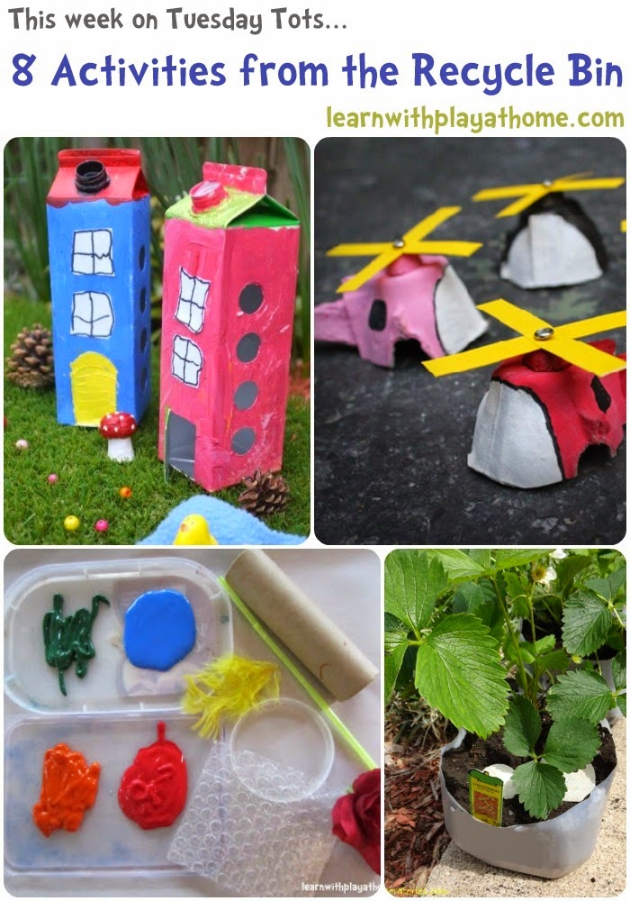 Learn With Play At Home 8 Activities Using Materials From The Recycle Bin