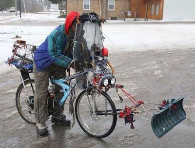 Vélo chasse neige, tellement pratique !