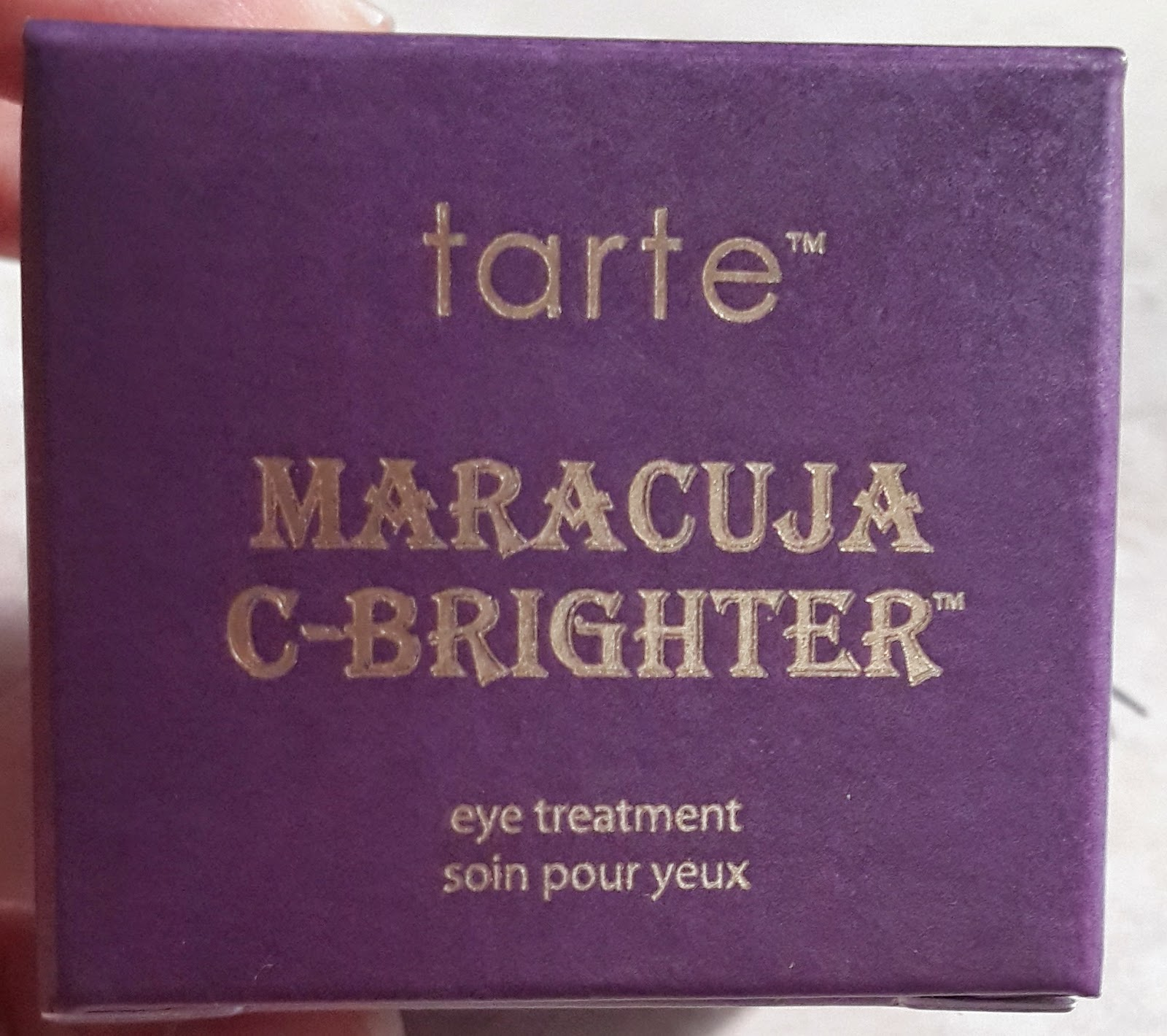Tarte Maracuja C-Brighter Eye Treatment Review