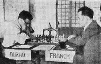 Partida de ajedrez Frank - Durão, Santander 1958