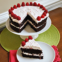 Chocolate Cake With Raspberry Whipped Cream Frosting