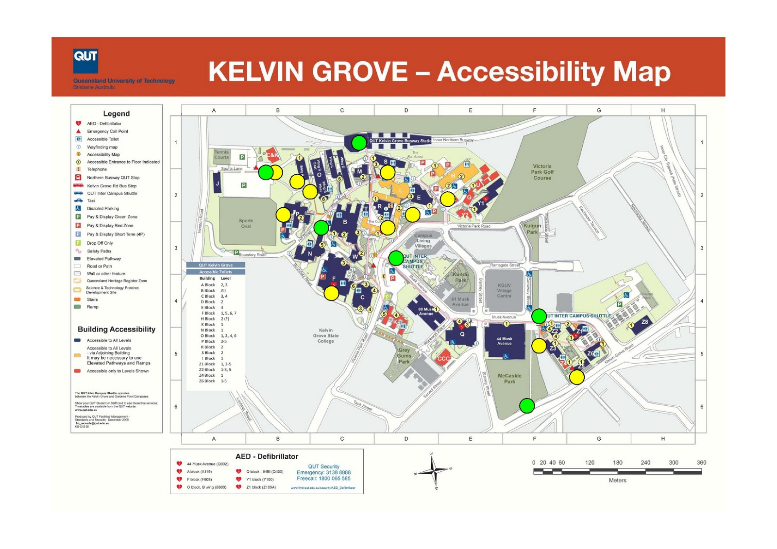 Qut Campus Map theroadtosustainability: Bike Racks and Bus Stops at QUT Kelvin Grove Qut Campus Map
