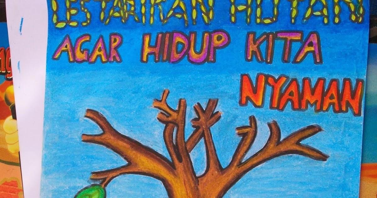 Contoh Gambar Poster Lingkungan Hidup Yang Mudah Digambar Materi Pelajaran 9