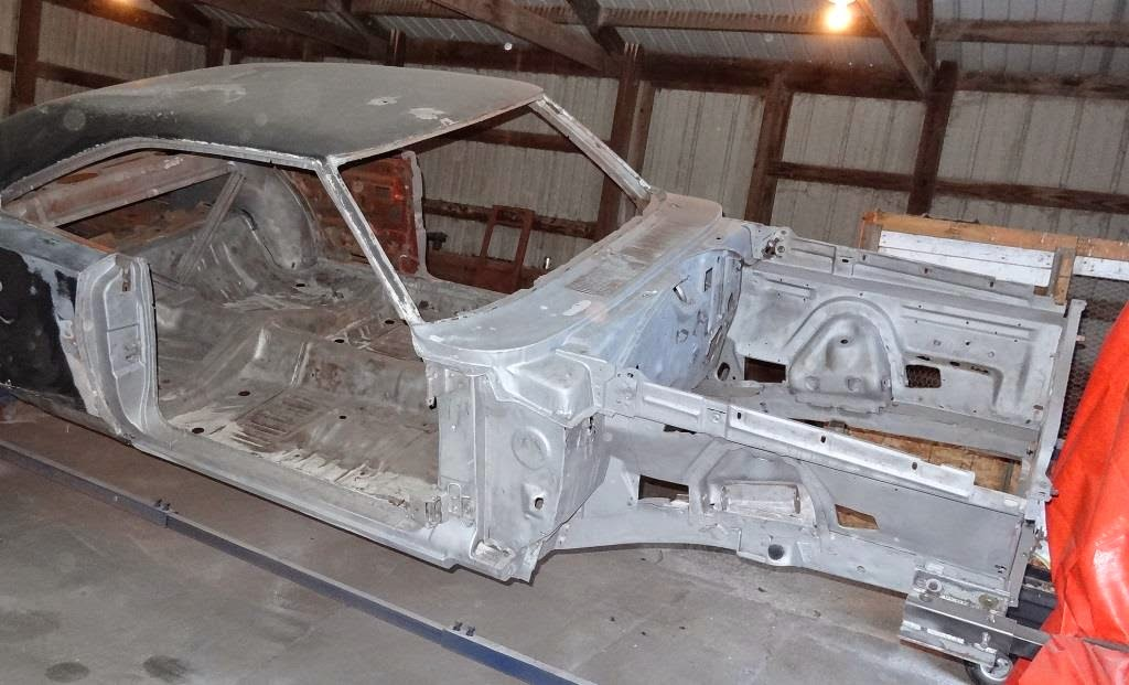 Paint removed from 1970 Charger Mopar