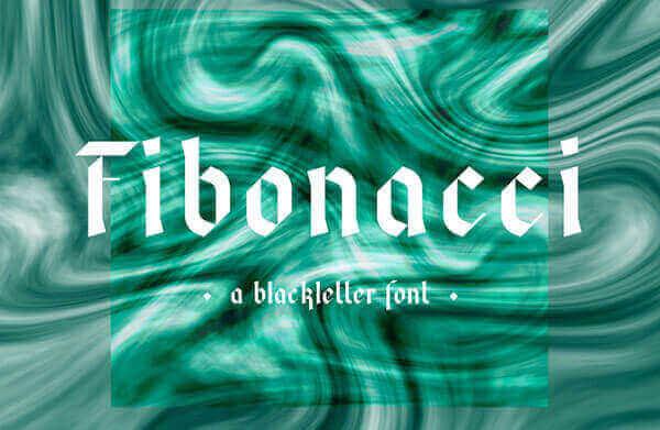 Font Modern Blackletter Grafis - Fibonacci Fraktur Free Modern Blackletter Font