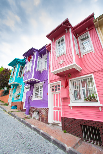 Case colorate a Kariye Bostani-Istanbul