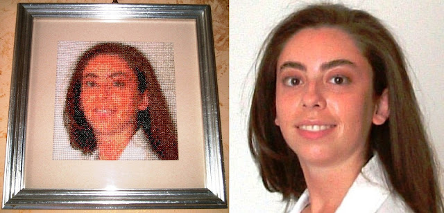 Silvana Calabrese my face embroidered cross-stitch Loving San Francisco