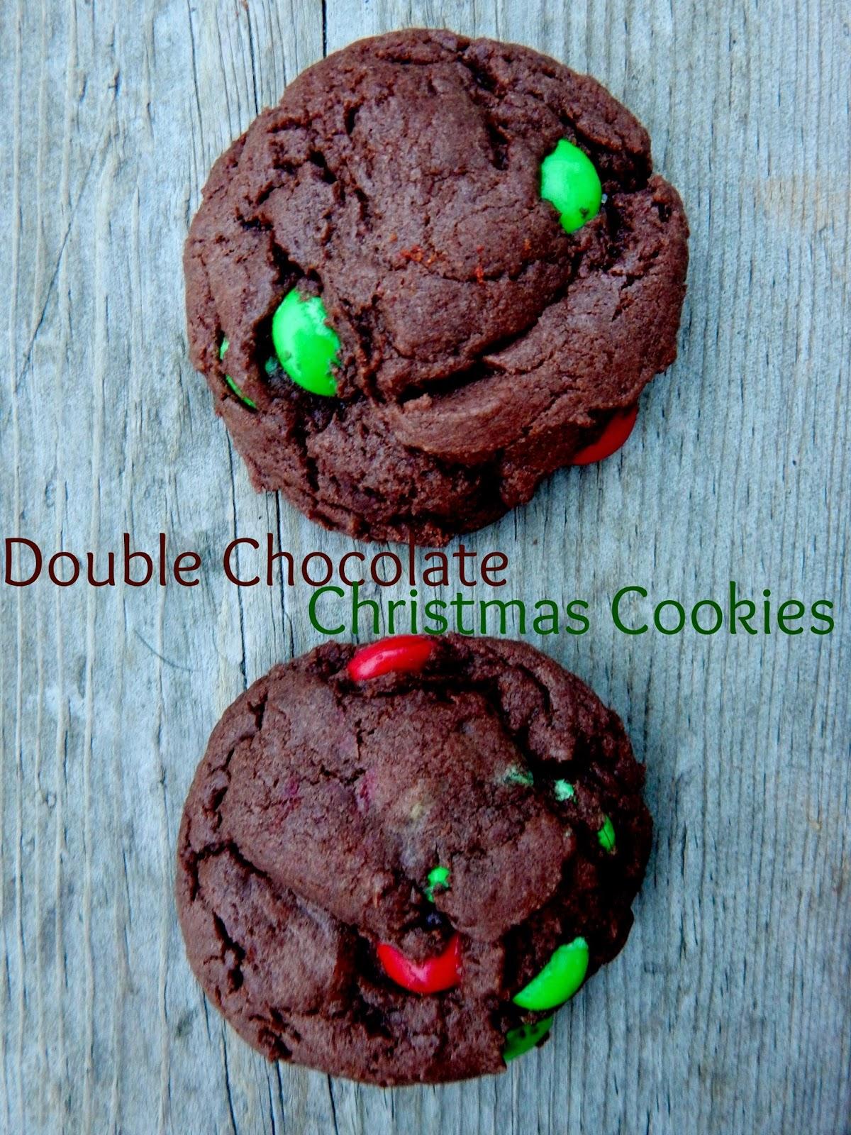 Ally S Sweet Savory Eats Double Chocolate Christmas Cookies